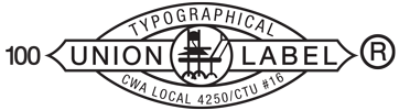 Typographical Union Label 100